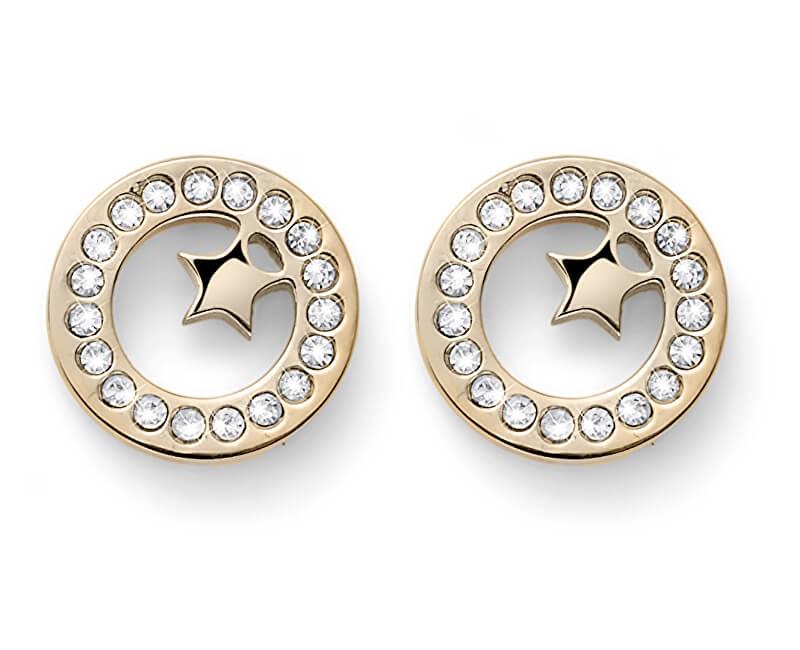 Oliver Weber Cercei placați cu aur cu cristale Little Star 22810G
