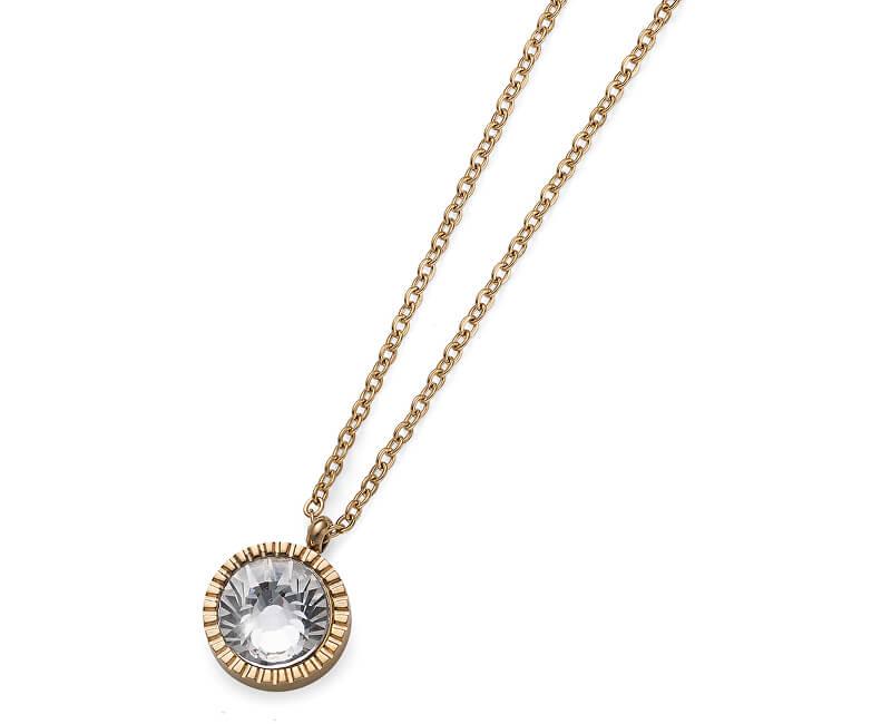 Oliver Weber Colier auriu placat cu cristal Joy 11972G