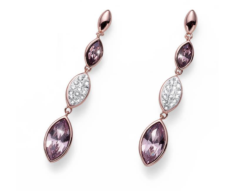 Oliver Weber Cercei roz aurite cu cristale Concept 22802RG