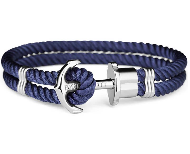 Paul Hewitt Dvojitý modrý náramek s kotvou PH-PH-N-S-N