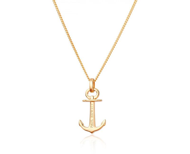 Paul Hewitt Pozlacený stříbrný náhrdelník s kotvou PH-AN-G (řetízek, přívěsek)