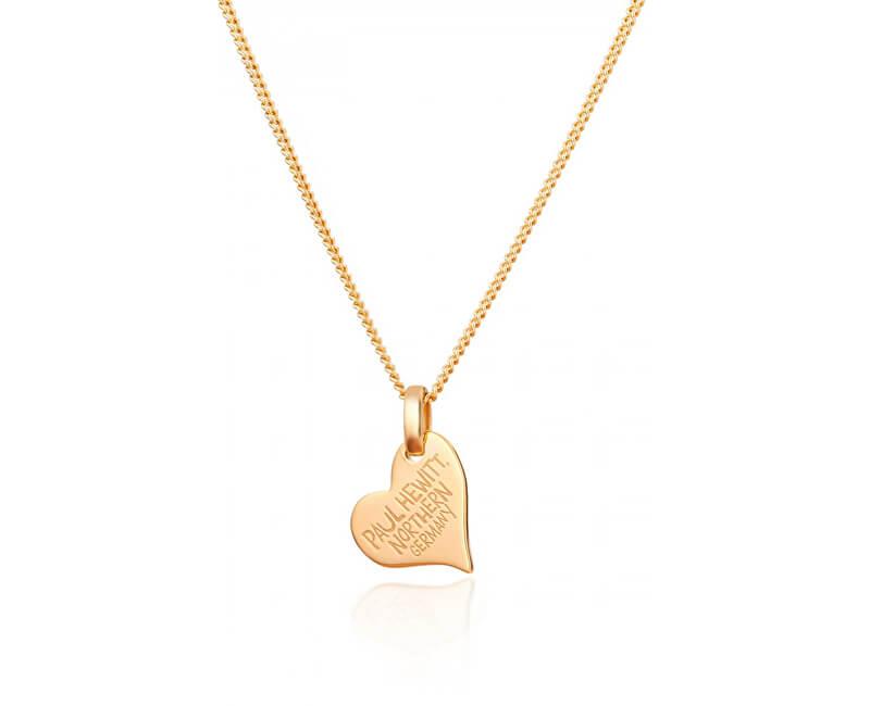 Paul Hewitt Pozlacený stříbrný náhrdelník se srdíčkem PH-HN-G (řetízek, přívěsek)