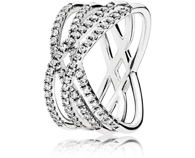 Pandora Oslnivý stříbrný prsten 196401CZ