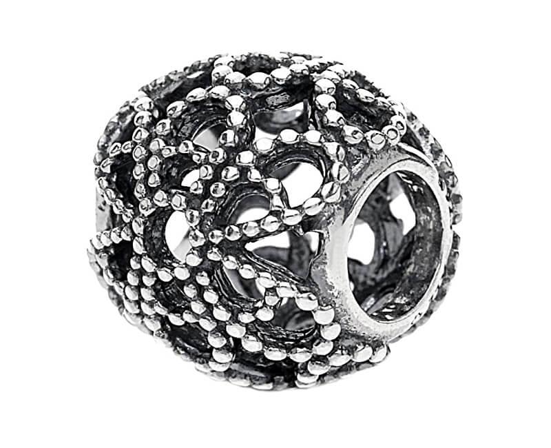 Pandora Stříbrný květinový korálek 791282