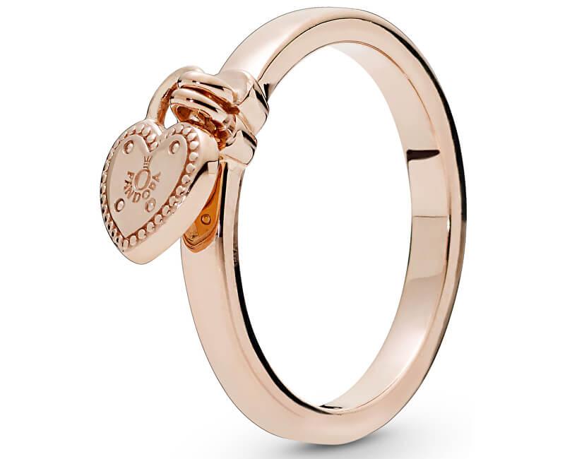 Pandora Brățară inel cu pandantiv inima 186571