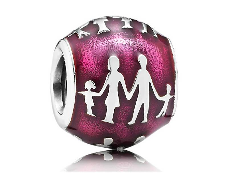 Pandora Fialový korálek Rodina 791399EN62