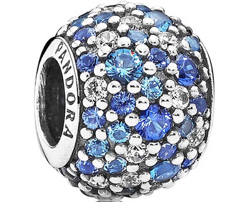 Pandora Șirag de mărgele cu cristale albastre 791261NSBMX