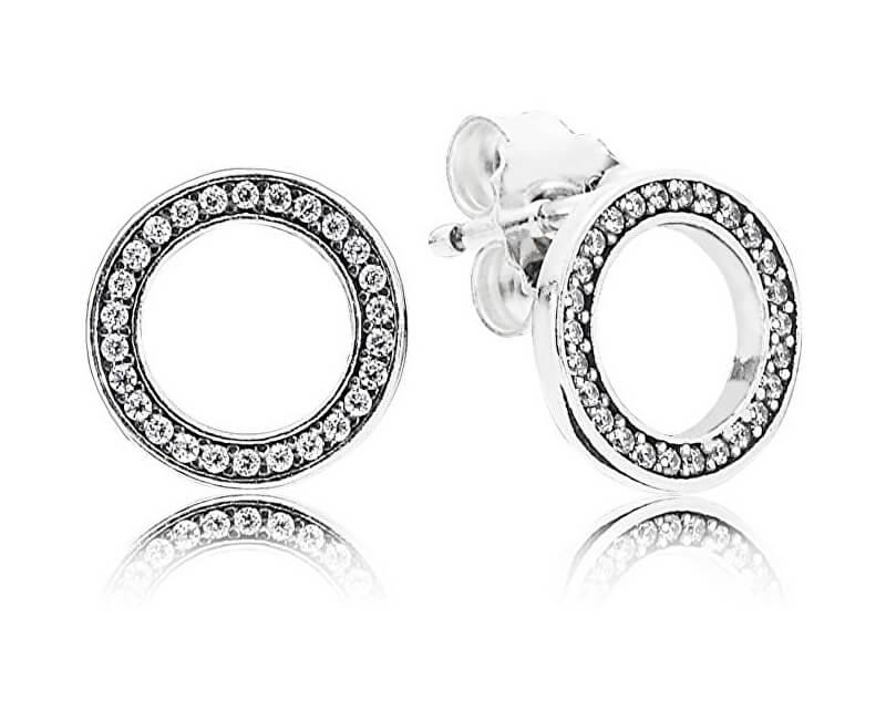 Pandora Kruhové náušnice s krystaly 290585CZ  2eb9b8a43f5
