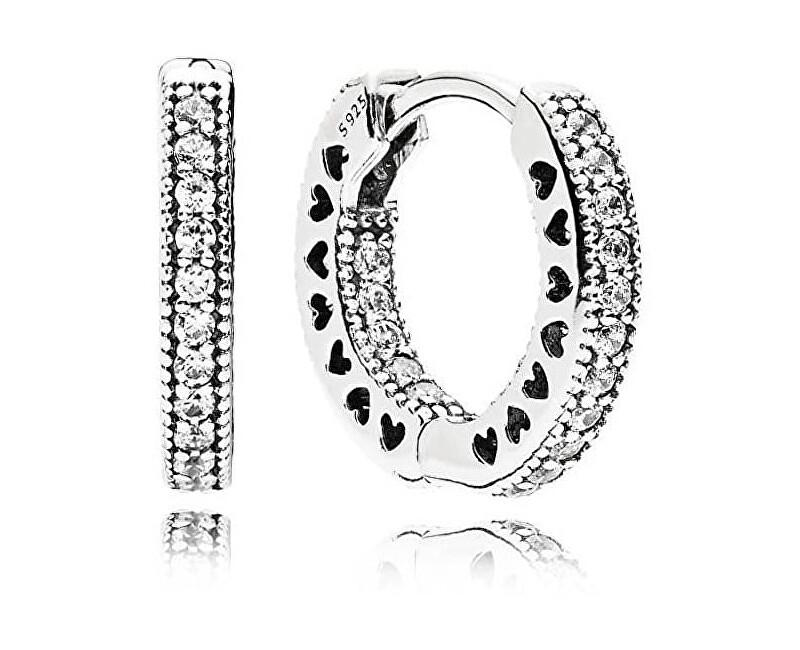 Pandora Kruhové náušnice s krystaly 296317CZ Doprava ZDARMA  8c4aa2969b8