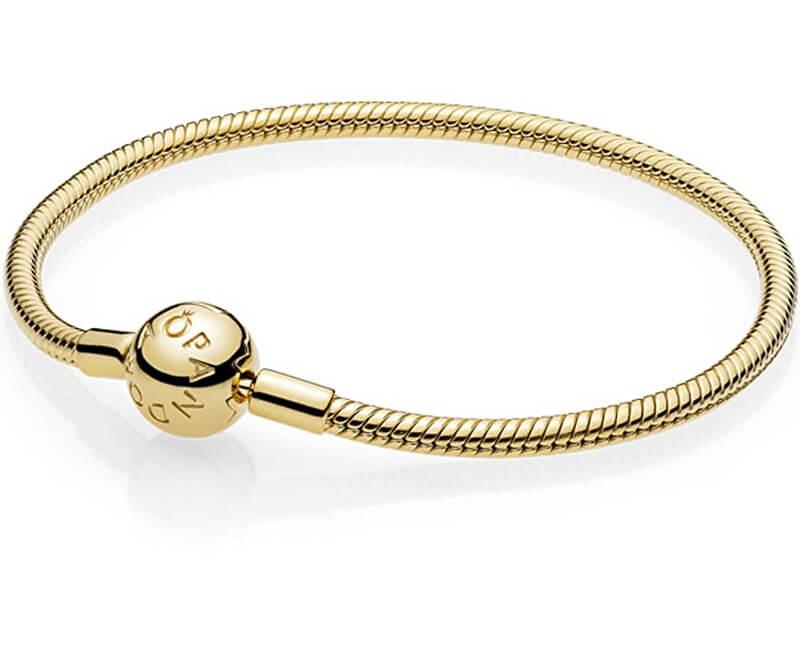 Pandora Luxusní pozlacený náramek 567107