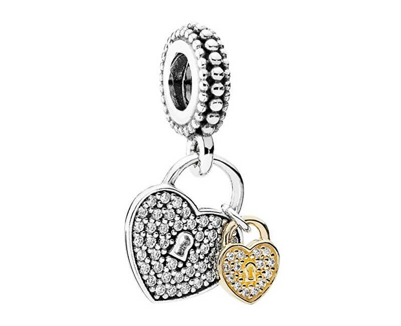 Pandora Luxusní přívěsek Odemčená srdce 791807CZ