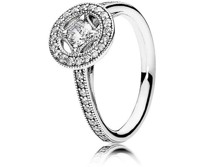Pandora Luxusné trblietavý prsteň zo striebra 191006CZ Doprava ... 67c753cd370