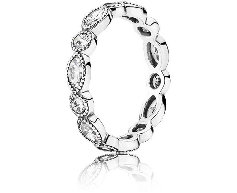 Pandora Oslnivý stříbrný prsten s kamínky 190940CZ Doprava ZDARMA ... 76041d7c081