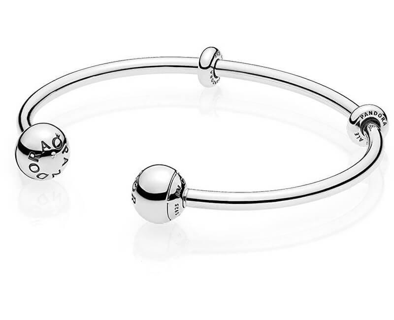Pandora Pevný stříbrný náramek na přívěsky 596477