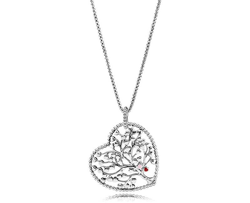 Pandora Prekrásny strieborný náhrdelník Strom lásky 396582enmx (retiazka deb98393171