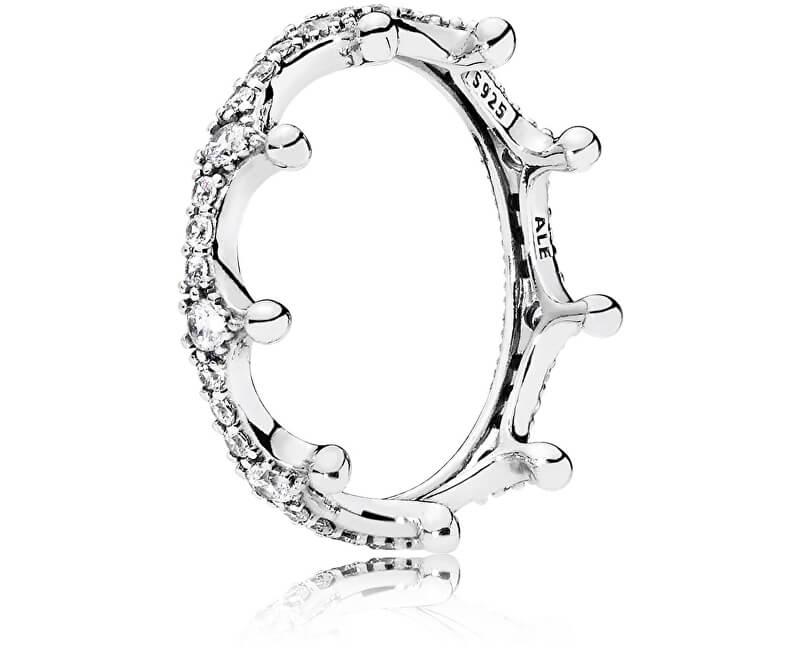 Pandora Překrásný stříbrný prsten Začarovaná koruna 197087CZ