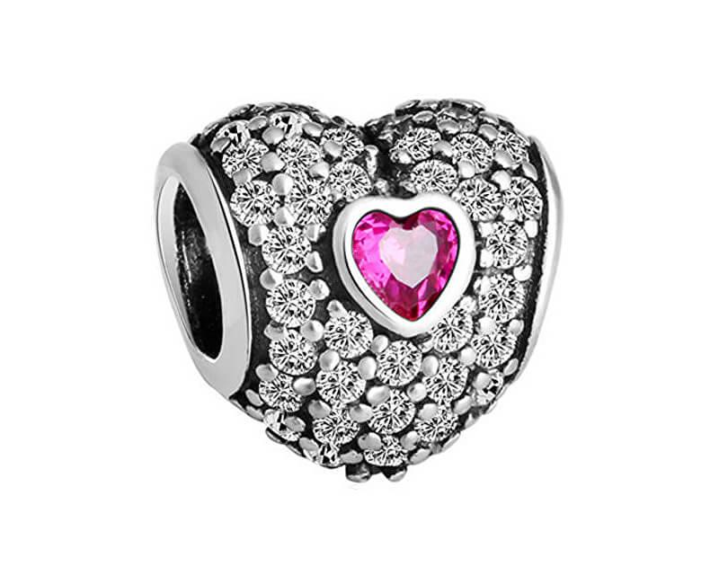 Pandora Romantický korálek Srdíčko 791168SRU