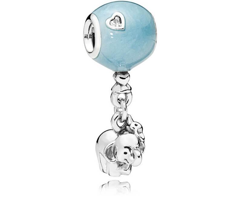 Pandora Roztomilý korálik Sloníča s modrým balónom 797239EN169 ... d5e8b7858a4