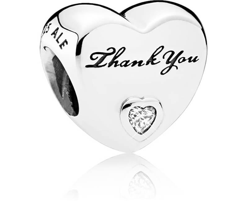 Pandora Srdíčkový korálek Děkuji 792096CZ