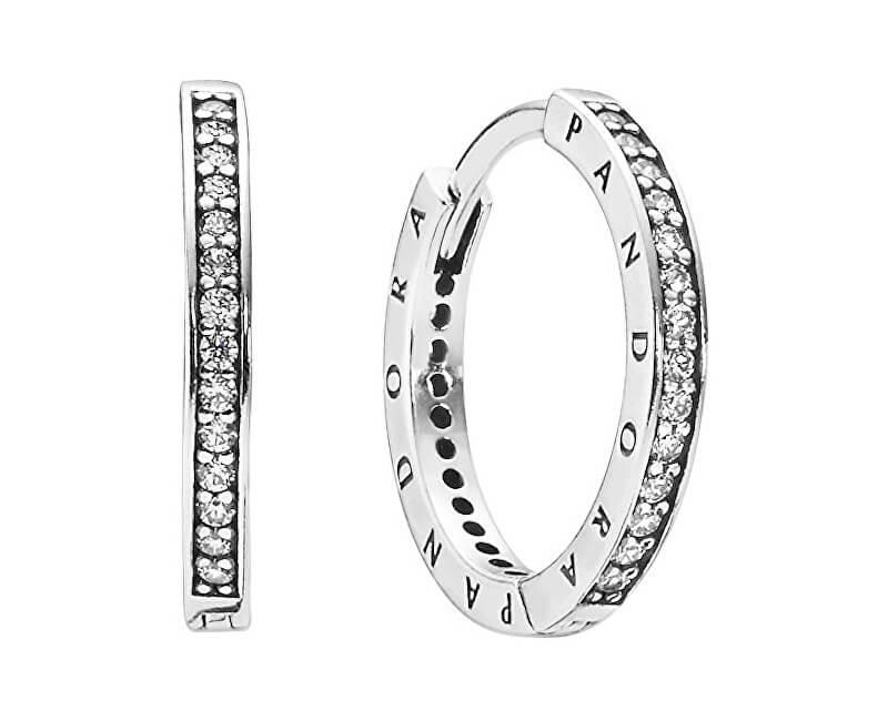 Pandora Stříbrné náušnice s krystaly 290558CZ Doprava ZDARMA ... 0ad6ea56799