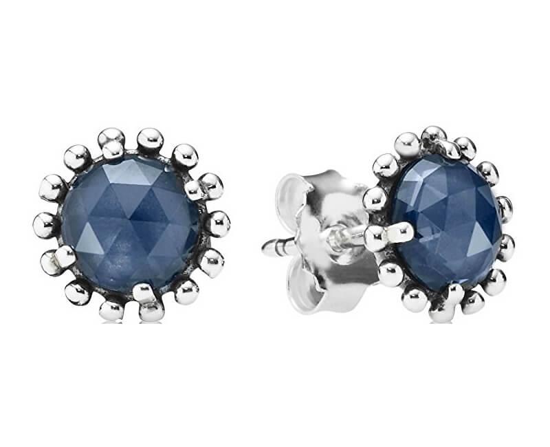 Pandora Stříbrné náušnice s modrými krystaly 290561NBC Doprava ... 66b7d525b78
