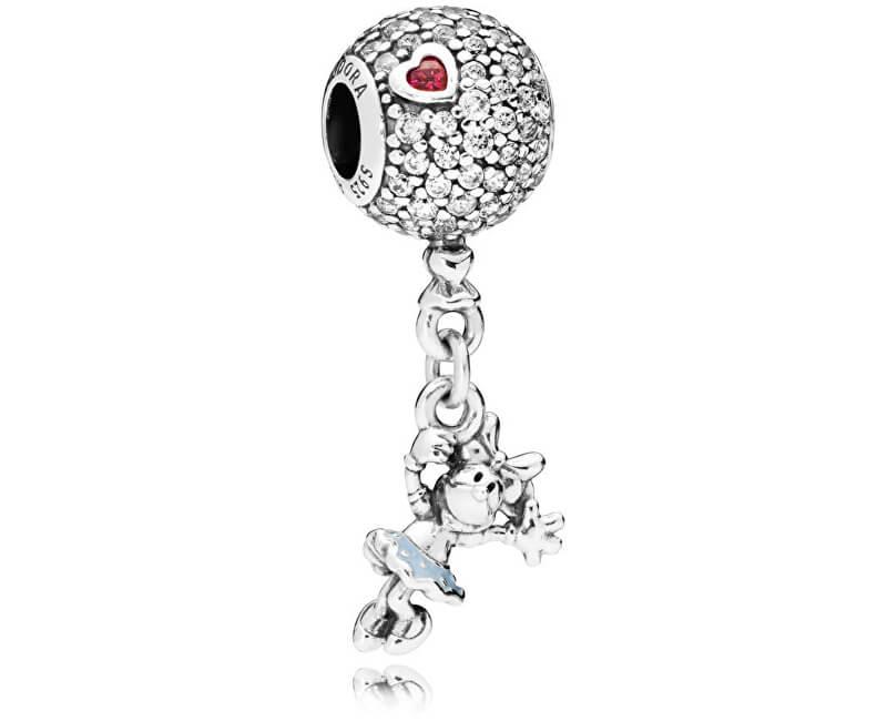 Pandora Stříbrný korálek Disney Minnie na balonu 797171CZ