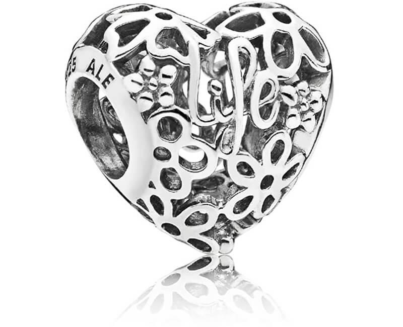 Pandora Stříbrný korálek Miluj život 797046