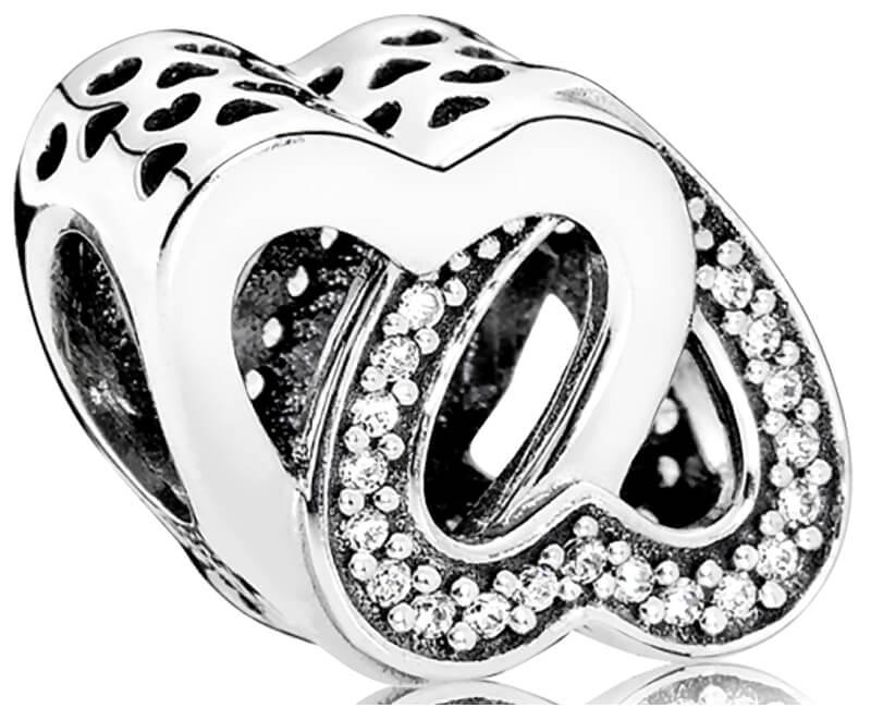 Pandora Stříbrný korálek Propletená srdce 791880CZ