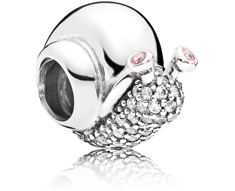 Pandora Stříbrný korálek Třpytivý šnek 797063CZ