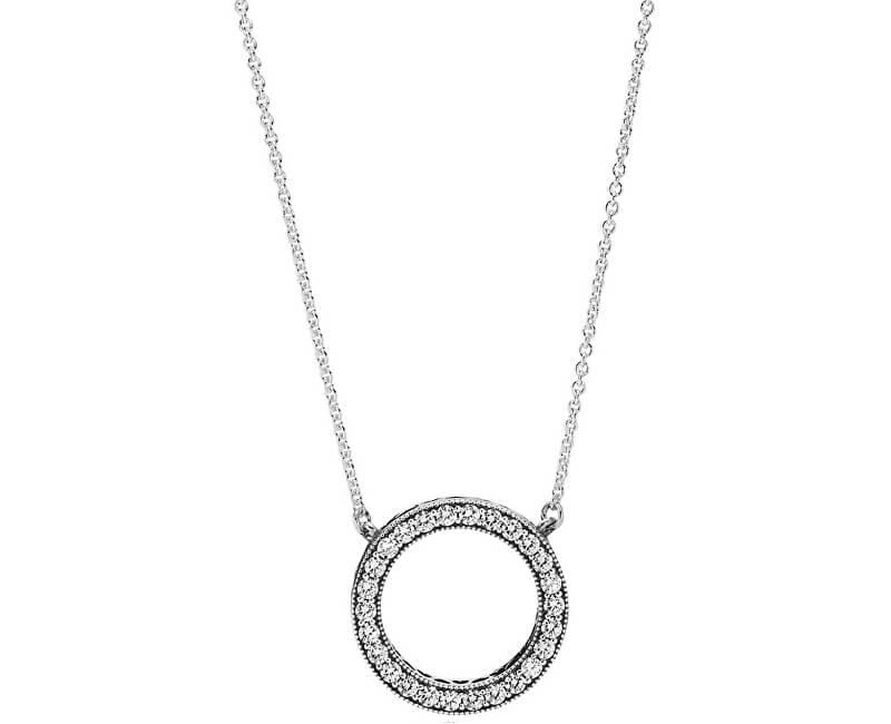 Pandora Stříbrný náhrdelník s krystalovým přívěskem 590514CZ-45 ... 74d25220445