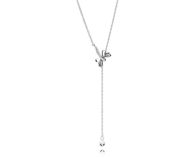 Pandora Stříbrný náhrdelník Zasněná vážka 397104CZ-65