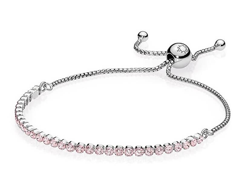 7840d3610 Pandora Strieborný náramok s ružovými kryštálmi 590524PCZ | Vivantis ...