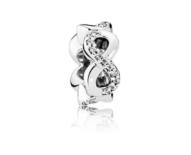 Pandora Stříbrný oddělující korálek Nekonečno 792101CZ