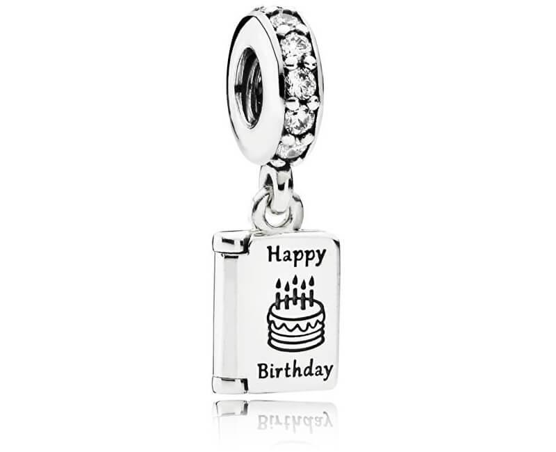 Pandora Stříbrný přívěsek Happy Birthday 791723CZ