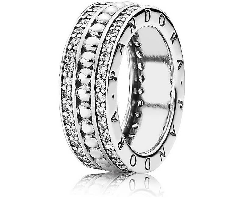 Pandora Stříbrný prsten s kamínky 190962CZ Doprava ZDARMA  2217c5c7d8d