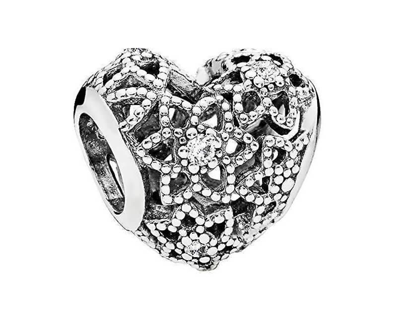 Pandora Stříbrný srdíčkový korálek 796264CZ