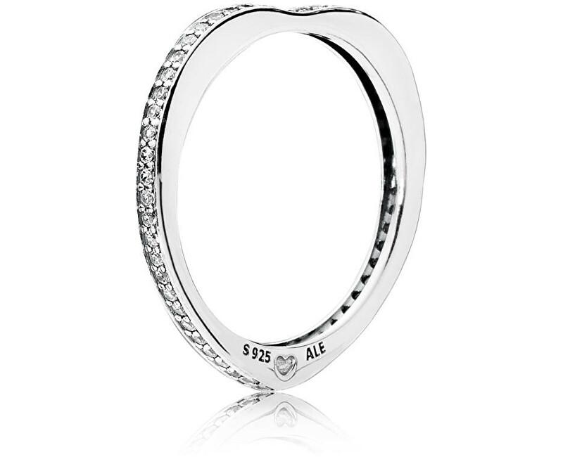 Pandora Stříbrný zamilovaný prsten 197095CZ