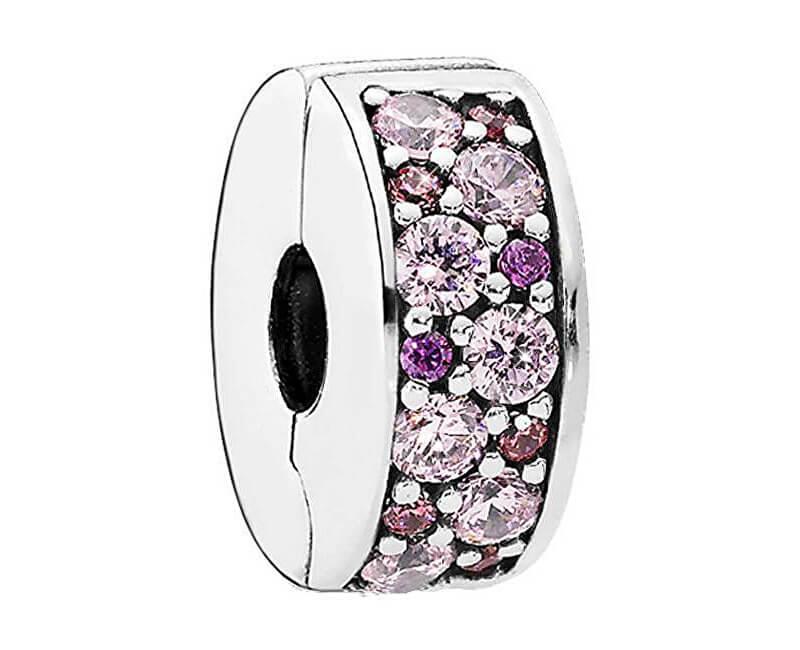 Pandora Třpytivý růžový korálek 791817CZSMX