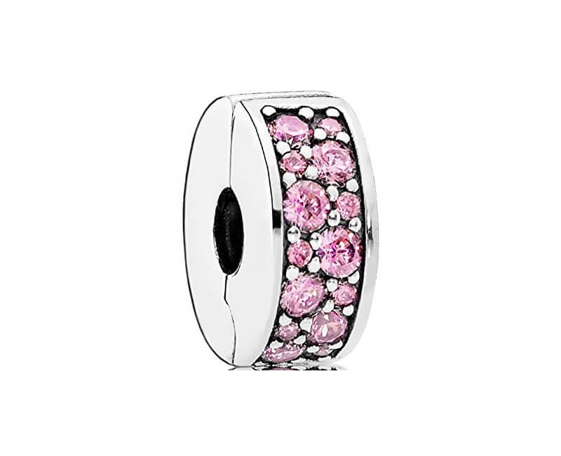 Pandora Clip roz 791817PCZ strălucitoare