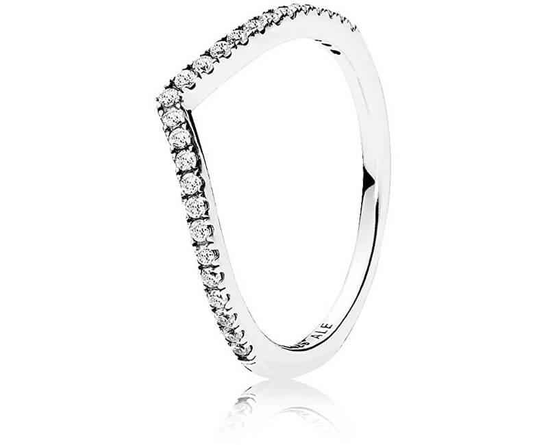 Pandora Třpytivý stříbrný prsten 196316CZ