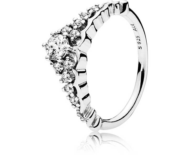 Pandora Třpytivý stříbrný prsten Diadém 196226CZ
