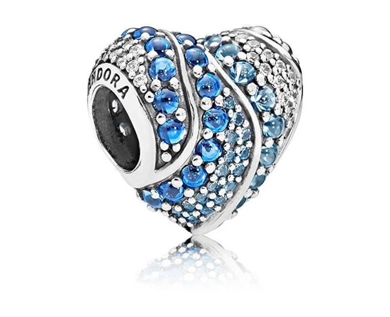 Pandora Zamilovaný korálek Modré srdce 797015NABMX