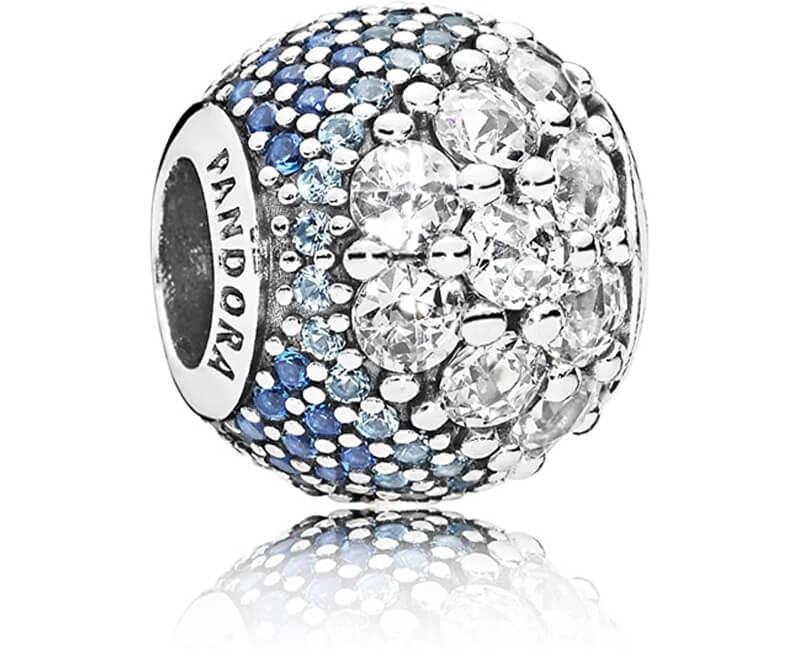 Pandora Zamilovaný korálek s modrými kamínky 797032NABMX