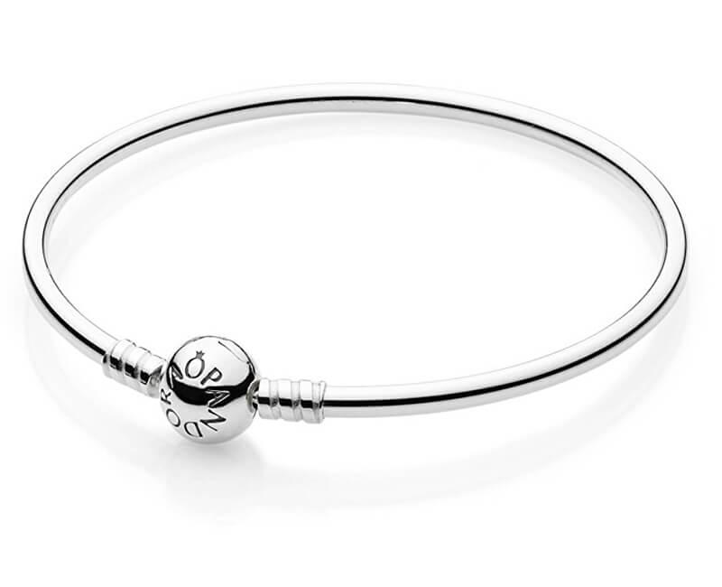 Pandora Pevný stříbrný náramek 590713