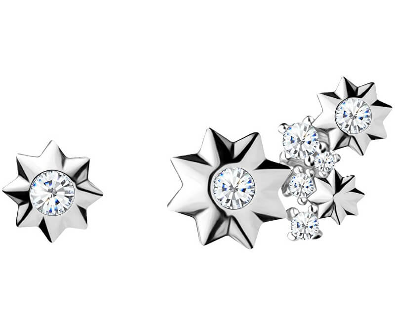 0872e9083 Preciosa Asymetrické hviezdičkové náušnice Orion 5274 00L | Vivantis ...
