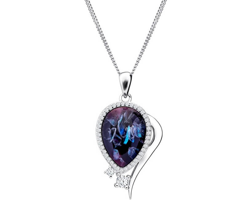 Preciosa Elegantní náhrdelník Ines Matrix 6110 26 (řetízek, přívěsek)