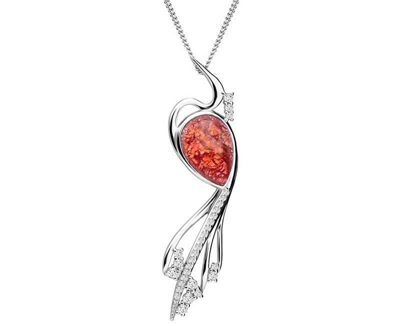 Preciosa Elegantní náhrdelník Ines Matrix růžový 6109 69 (řetízek, přívěsek)