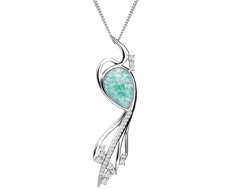 Preciosa Elegantní náhrdelník Ines Matrix Tyrkys 6109 24 (řetízek, přívěsek)
