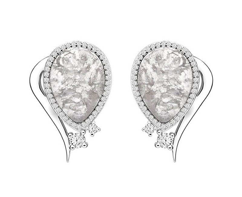 Preciosa Elegantní náušnice Ines Matrix bílé 6111 11