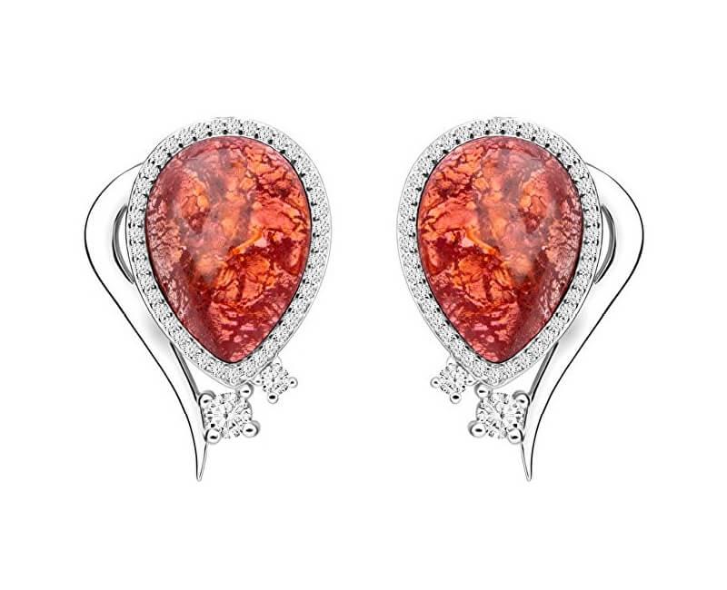Preciosa Elegantní náušnice Ines Matrix růžové 6111 69